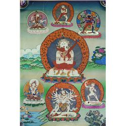Print Tanka of Protective Deity on Canvas