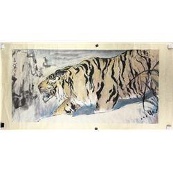 Yang Shanshen 1913-2004 Chinese WC Tiger Painting