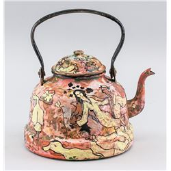 Marc Chagall French Surrealist Painted Teapot