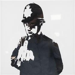 """Banksy British Pop Vinyl EP Cover """"Rude Copper"""""""