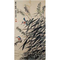 Lai Chusheng 1903-1975 Chinese Watercolor Birds