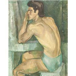 Alexander Deyneka Russian 1899-1969 Oil on Canvas