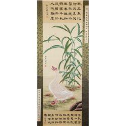 Yang Jin 1644-1728 Chinese Watercolor Goose