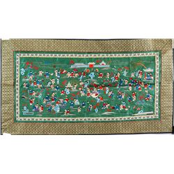 Chinese Embroidery Panel 100 Boys