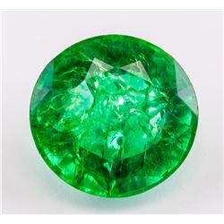 12.90ct Round Cut Green Emerald Gemstone GGL
