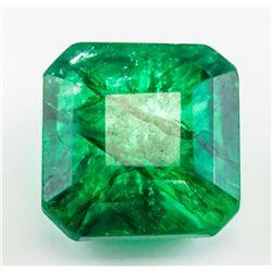 13.15ct Emerald Cut Green Emerald Gemstone GGL