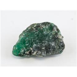 13.30ct Uncut Natural Green Emerald Gemstone