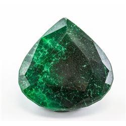 325.40ct Pear Cut Green Emerald Gemstone GGL
