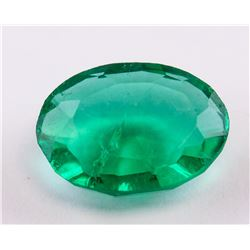 6.20ct Oval Cut Green Emerald Gemstone