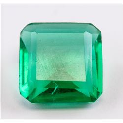 8.65ct Emerald Cut Green Emerald Gemstone GGL