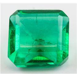 9.66ct Emerald Cut Green Emerald Gemstone