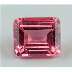 5.30ct Emerald Cut Pink Ruby Gemstone
