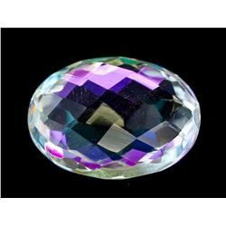 14.65ct Oval Checker Rainbow Mystic Quartz Gem