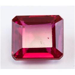 11.85ct Emerald Cut Pinkish Red Ruby Gemstone AGSL