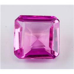 12.10ct Emerald Cut Pink Ruby Gemstone AGSL