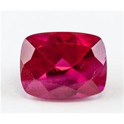 6.55ct Cushion Cut Red Ruby Gemstone