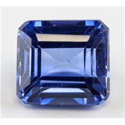 10.79ct Emerald Cut Blue Sapphire Gemstone