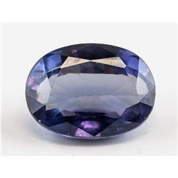 17.75ct Oval Cut Purple Sapphire Gemstone AGSL