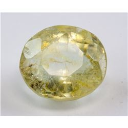 5.55ct Oval Cut Yellow Sapphire Gemstone AGSL