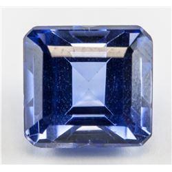 7.84ct Emerald Cut Blue Sapphire Gemstone