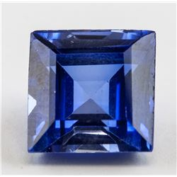 9.25ct Square Cut Blue Sapphire Gemstone AGSL