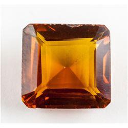 9.85ct Emerald Cut Golden Yellow Sapphire AGSL
