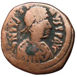 Justin I 518-527 AD AE Follis of Constantinople