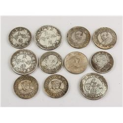 Eleven Assorted Chinese Coins