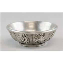Chinese Silver Eight Immotals Bowl Xuan Mark