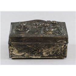 Japanese Silver Dragon Box MADE IN JAPAN