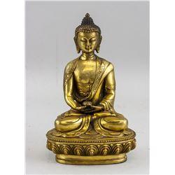 Chinese Bronze Medicine Buddha Statue
