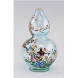 Chinese Peking Glass Double Gourd Vase Chenghua
