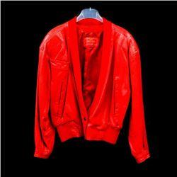 Claude Montana Paris Red Leather Bomber Jacket
