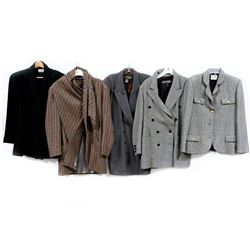 Collection of 5 Designer Wool Coats