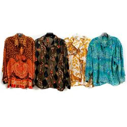 Collection of 8 Silk Designer Shirts one by Hermes