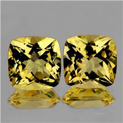 Natural AAA Yellow Citrine Pair 18.00 MM - FL