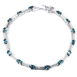 Natural LONDON BLUE TOPAZ Bracelet