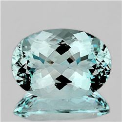 NATURAL GREENISH BLUE AQUAMARINE - FL- Certified