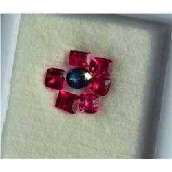 Natural Vivid Red Rare Burma Jedi Spinel & Sapphire