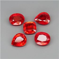 Natural  Imperial Red Sapphire 5Pcs/4.88Ct.