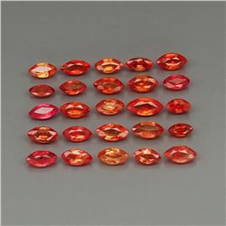 Natural Imperial Red Sapphire 25Pcs/4.56Ct.