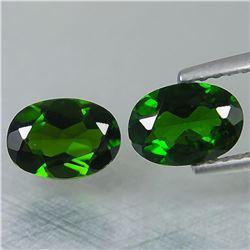 Natural Green Chrome Diopside Pair 2.95 Carats