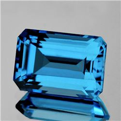 Natural AAA Fire Swiss Blue Topaz 22x15 MM - FL