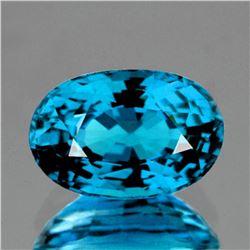 Natural AAA Blue Zircon 9x6 MM {Flawless-VVS1}