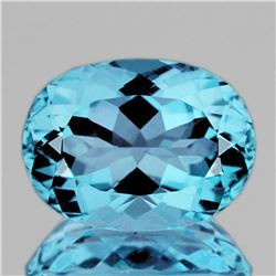 NATURAL INTENSE SKY BLUE TOPAZ  16x12 MM - FLAWLESS
