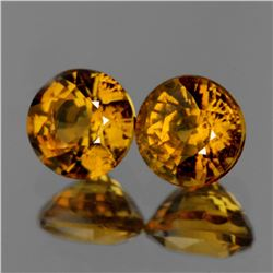 Natural Golden Yellow Mali Garnet Pair