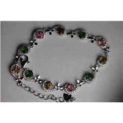 NATURAL MULTI COLOR TOURMALINE Bracelet