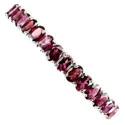 Natural Pink Raspberry Rhodolite Garnet Bangle