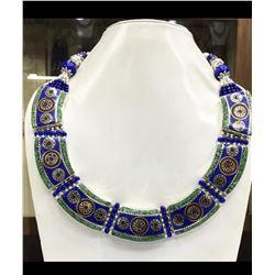 Tibet Hand Made Turquoise & Lapis Lazuli Necklace