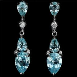 GENUINE AAA SKY BLUE TOPAZ Earrings